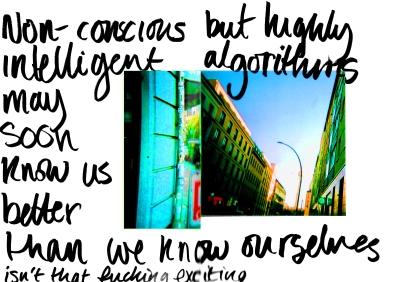 algorithms, non-conscious, but intelligent