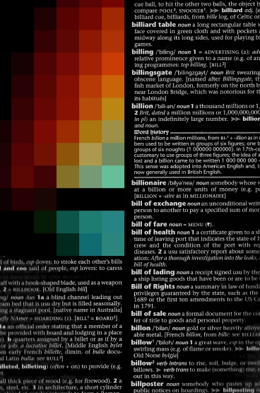 The pixelated dictionary
